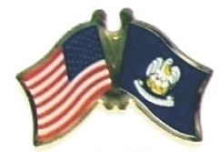 US LOUISIANA - Lot 12 state flag friendship pins ec519