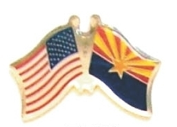 USA / ARIZONA - Lot 12 state flag friendship pins ec503