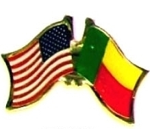 USA / BENIN - 12 WORLD FLAG FRIENDSHIP LAPEL PINS ec029