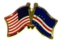 USA / CAPE VERDE - 12 WORLD FLAG FRIENDSHIP PINS ec047