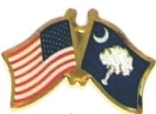 USA / CAROLINA - 12 state flag friendship pins ec541