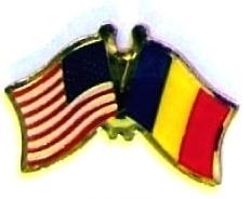 USA / CHAD - 12 WORLD FLAG FRIENDSHIP LAPEL PINS ec050