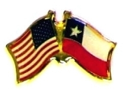 USA / CHILE - 12 WORLD FLAG FRIENDSHIP LAPEL PINS ec051