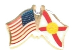 USA / FLORIDA - Lot 12 state flag friendship pins ec510