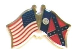 USA / GEORGIA - Lot 12 state flag friendship pins ec511