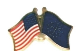 USA / INDIANA - Lot 12 state flag friendship pins ec515