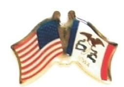 USA / IOWA - Lot 12 state flag friendship pins ec516