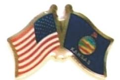 USA / KANSAS - Lot 12 state flag friendship pins ec517
