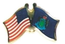USA / MAINE - 12 state flag friendship lapel pins ec520