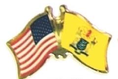 USA / NEW JERSEY - 12 state flag friendship pins ec531