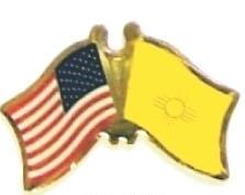 USA / NEW MEXICO - 12 state flag friendship pins ec532