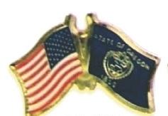 USA / OREGON - Lot 12 state flag friendship pins ec538