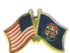 USA / UTAH - Lot 12 state flag friendship pins ec545