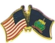 USA / VERMONT - Lot 12 state flag friendship pins ec546