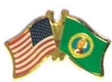USA / WASHINGTON - 12 state flag friendship pins ec548