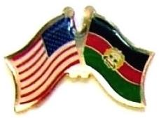 USA AFGHANISTAN - 12 WORLD FLAG FRIENDSHIP PINS ec002