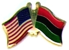 USA AFRO AMERICAN - 12 WORLD FLAG FRIENDSHIP PINS ec001