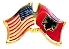 USA ALBANIA - 12 WORLD FLAG FRIENDSHIP LAPEL PINS ec003