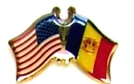 USA ANDORRA - 12 WORLD FLAG FRIENDSHIP LAPEL PINS ec006