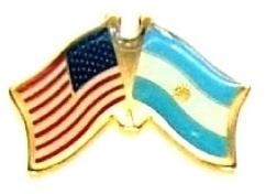 USA ARGENTINA - 12 WORLD FLAG FRIENDSHIP HAT PINS ec010