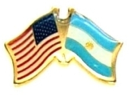 Usa Argentina - 12 World Flag Friendship Hat Pins ec010 - $18.00