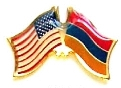 USA ARMENIA - 12 WORLD FLAG FRIENDSHIP LAPEL PINS ec012