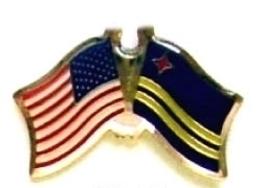 Usa Aruba - 12 World Flag Friendship Lapel Pins ec013 - $18.00