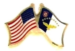 USA AZORES - 12 WORLD FLAG FRIENDSHIP LAPEL PINS ec019