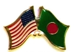 USA BANGLADESH - 12 WORLD FLAG FRIENDSHIP PINS ec022