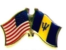 USA BARBADOS - 12 WORLD FLAG FRIENDSHIP HAT PINS ec023