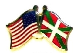 USA BASQUE LANDS - 12 WORLD FLAG FRIENDSHIP PINS ec024