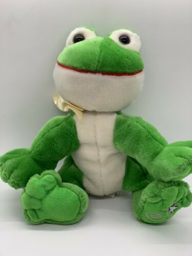 Primary image for Russ Berrie Shining Stars Plush Frog Green Stuffed Animal 8""