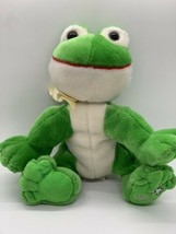 "Russ Berrie Shining Stars Plush Frog Green Stuffed Animal 8"" - $10.58"