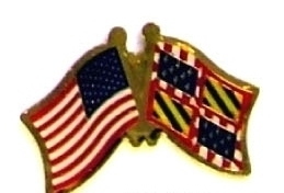 USA BURGUNDY - 12 WORLD FLAG FRIENDSHIP HAT PINS ec042