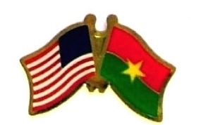 USA BURKINA FASO - 12 WORLD FLAG FRIENDSHIP PINS ec041