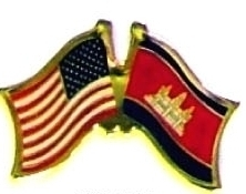 USA CAMBODIA - 12 WORLD FLAG FRIENDSHIP HAT PINS ec044 image 1
