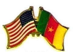 USA CAMEROON - 12 WORLD FLAG FRIENDSHIP HAT PINS ec045