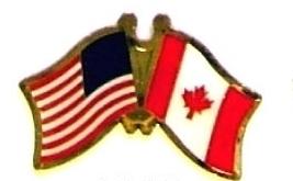 USA CANADA - 12 WORLD FLAG FRIENDSHIP LAPEL PINS ec046