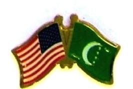 USA COMOROS - 12 WORLD FLAG FRIENDSHIP LAPEL PINS ec056