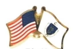 USA MASSACHUSETTS - 12 state flag friendship pins ec522