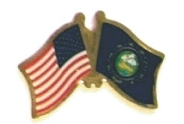 USA NEW HAMPSHIRE - 12 state flag friendship pins ec530 image 1