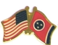 USA TENNESSEE - Lot 12 state flag friendship pins ec543