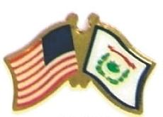 USA WEST VIRGINIA - 12 state flag friendship pins ec549
