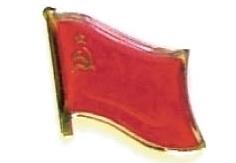 USSR - Wholesale lot of 12 flag hat lapel pins ef248