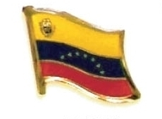 VENEZUELA - Wholesale lot 12 flag hat lapel pins ef252