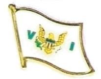 VIRGIN ISLANDS - Wholesale lot 12 flag lapel pins ef255