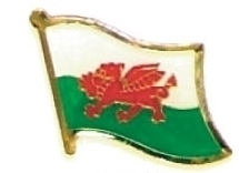 WALES - Wholesale lot of 12 flag hat lapel pins ef256