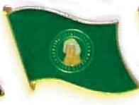 WASHINGTON - Wholesale lot 12 state flag hat pins ep548