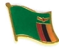 ZAMBIA  - Wholesale lot of 12 flag hat lapel pins ef259