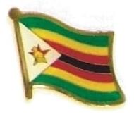 ZIMBABWE Wholesale lot of 12 flag hat lapel pins ef260